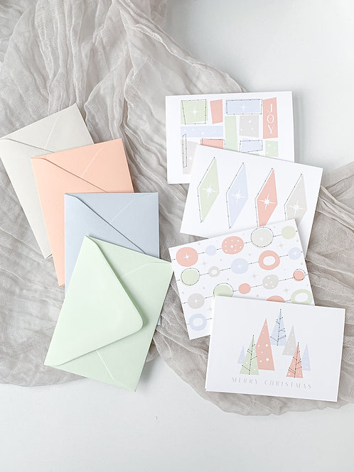 Mid-Century Modern Holiday Card Pack