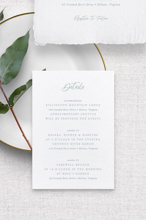 Eloise Detail Card