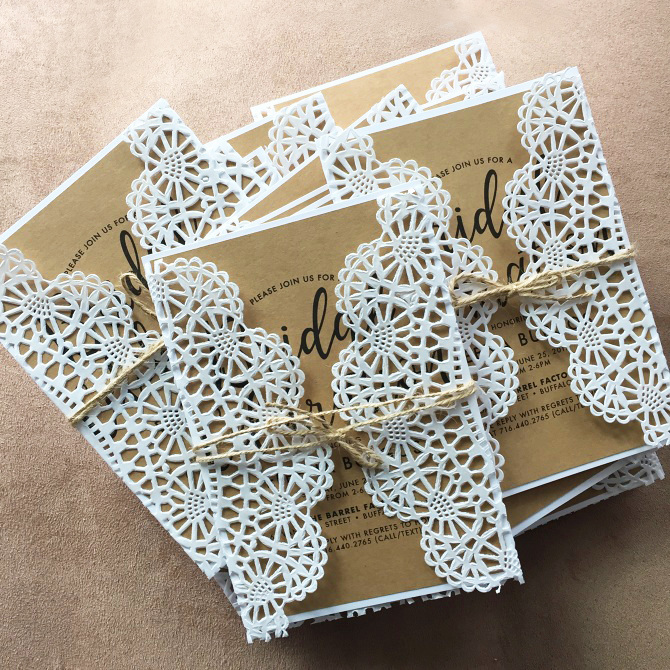 Boho Lace Bridal Shower Invite