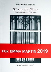 37, bandeau rouge, prix Emma Martin 2019