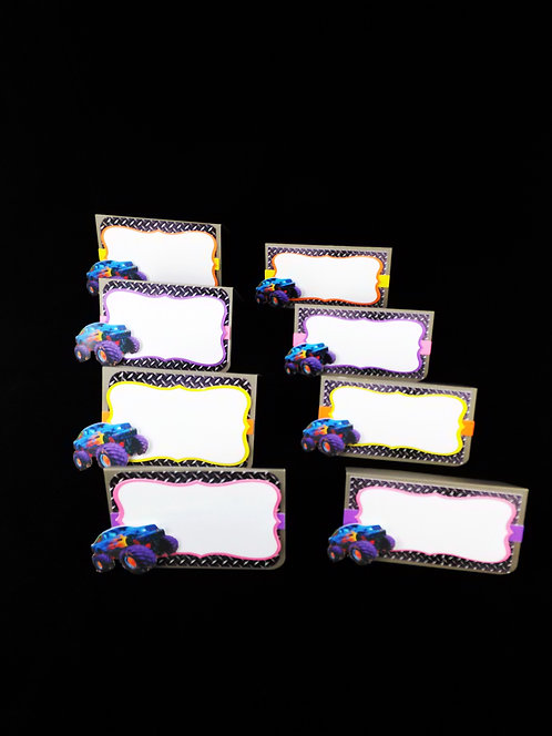 Monster Truck Theme Place Cards