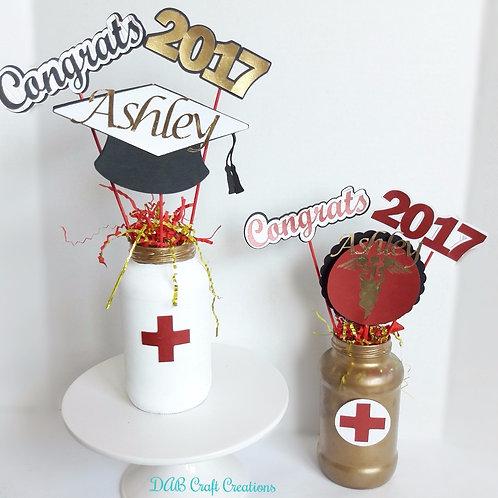 Personalized Nurse Grad Centerpiece