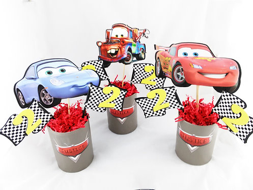 Radiant centerpiece inspired by Disney Cars
