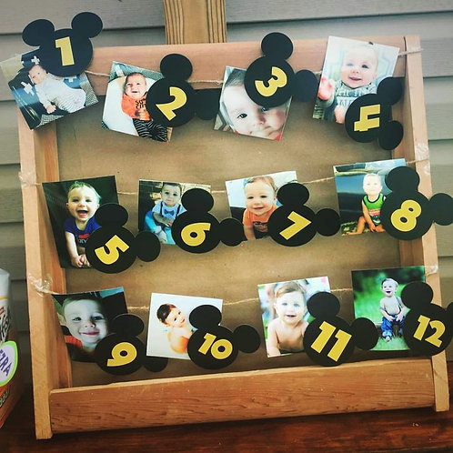 Mickey Mouse First Birthday Numbers