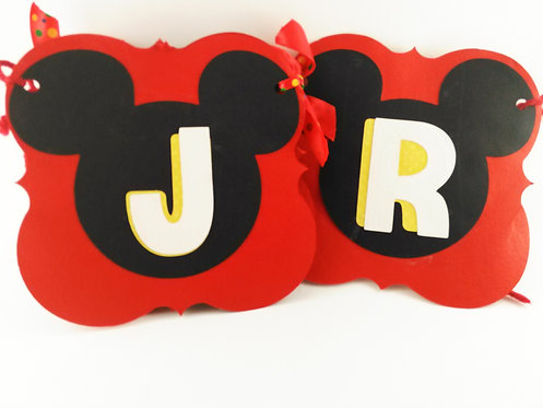 Mickey Mouse Clubhouse inspired birthday banner