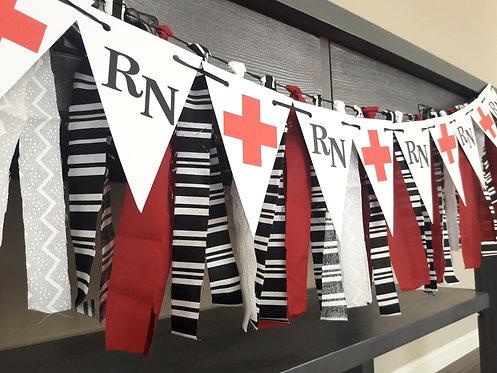 Red & White Nurse Banner