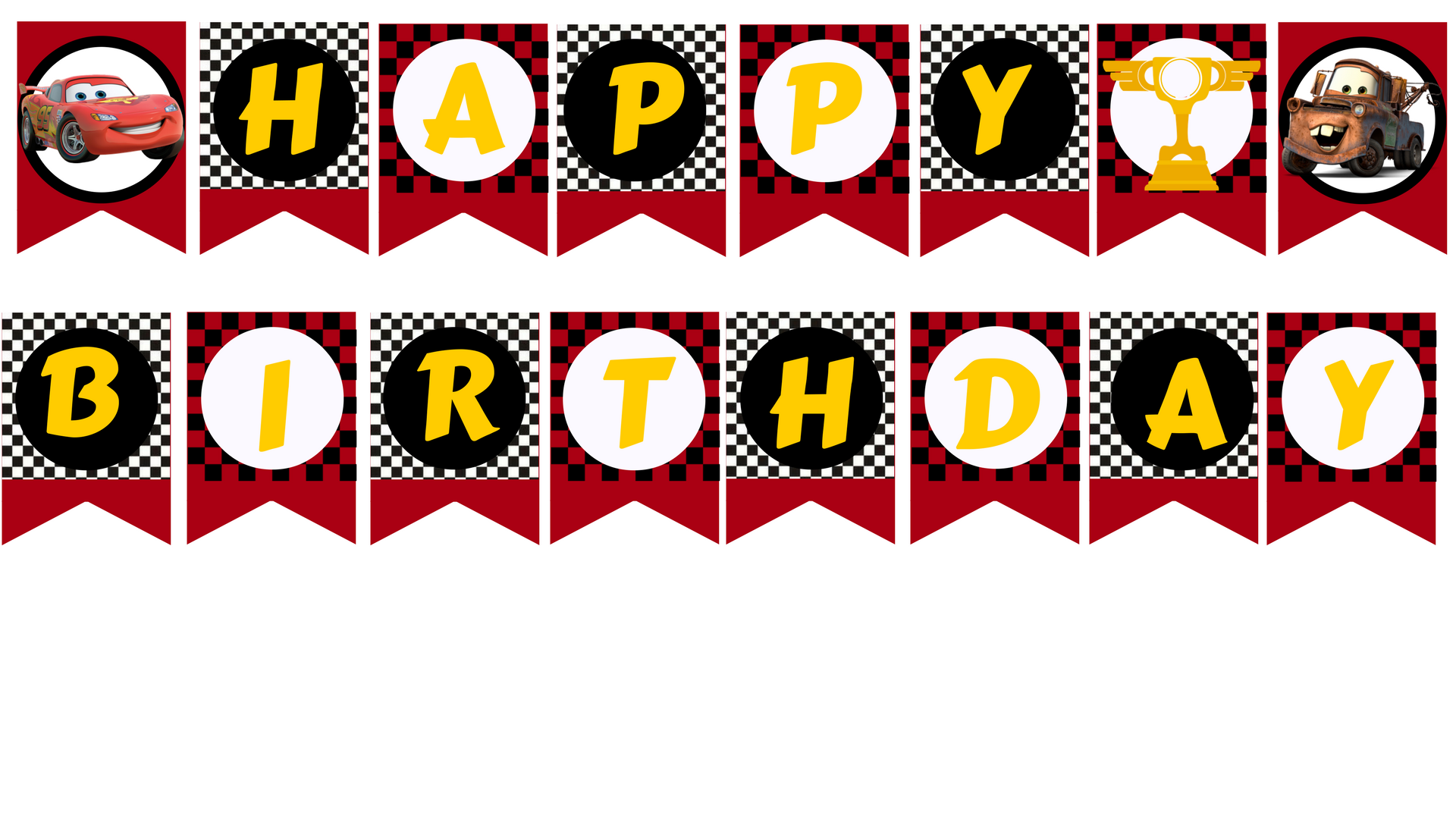 photograph relating to Happy Birthday Printable Banner referred to as Disney Cars and trucks encouraged Printable Banner
