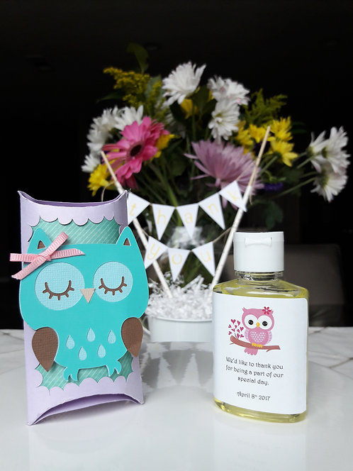 Pink and Purple Owl Party Favors
