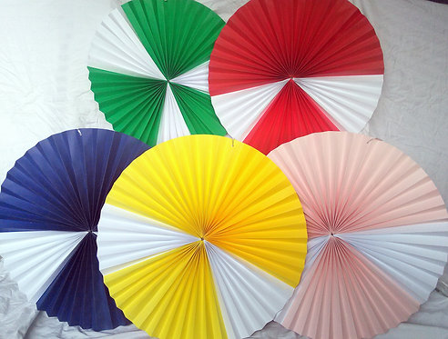 Stunning Extra Large Paper Rosettes, Paper Fans, Pinwheels