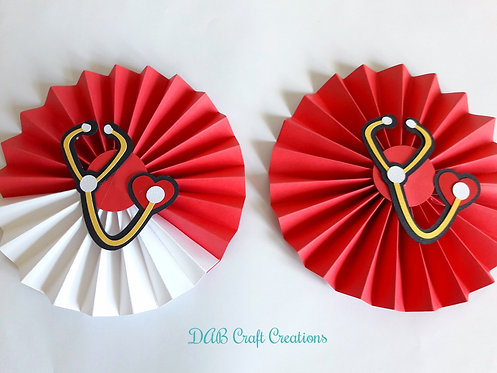 Red and White Paper Rosettes