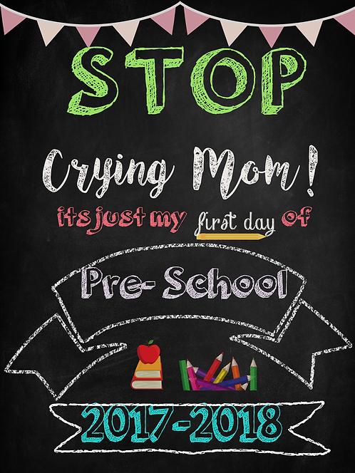 """""""Stop Crying Mom"""" Printable Sign"""
