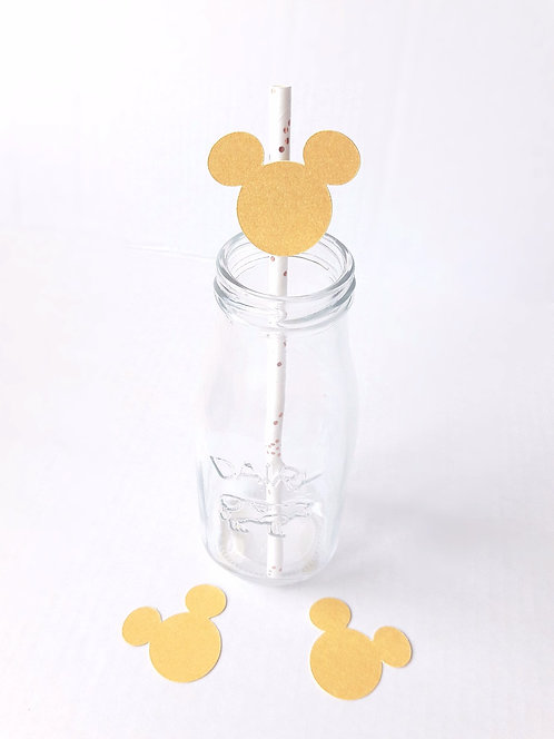 Gold Mickey Mouse Paper Straws
