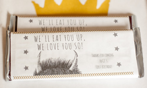 "Printable ""Where the Wild things are"" Candy Bar Wrapper"