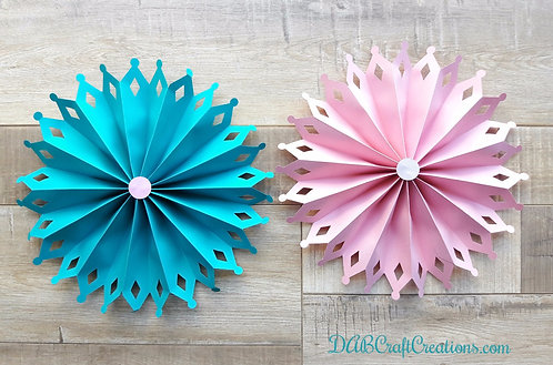 Teal and Pink Paper Rosettes