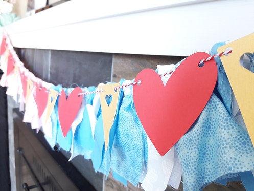 Baby shower heart theme banner