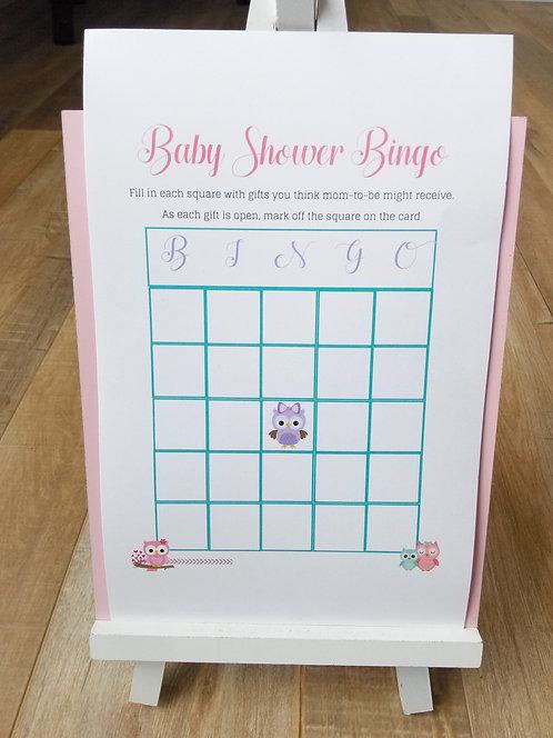 Adorable Owl Theme Printable Baby Shower Games