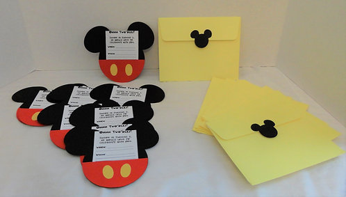 Premium Mickey Mouse Party Invitations