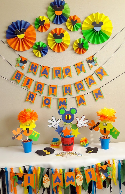 Custom Mickey Mouse Party Package