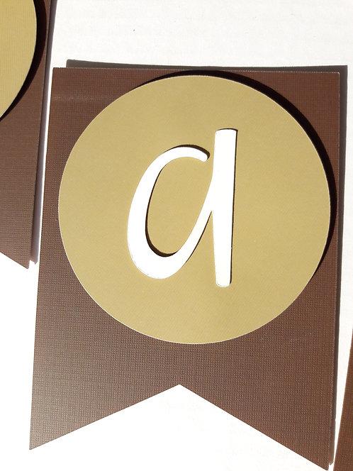 DIY Cardstock Letters