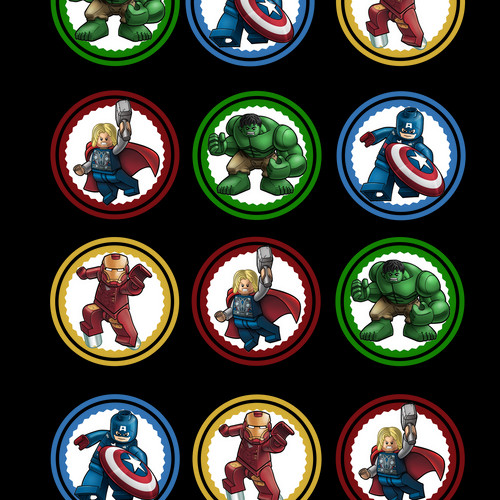 Avengers Cake Toppers Printable