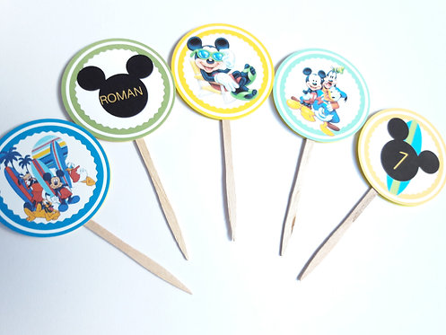 Printable Mickey Mouse cupcake toppers