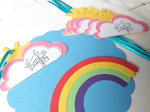 Rainbow Party Favor Thank you Tags