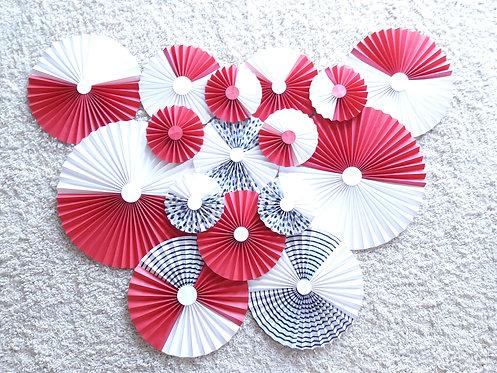 Red + White Rosettes