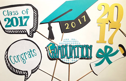 2017 Graduation Photo Booth Props