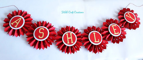 Red, black and Gold Rosette Banner