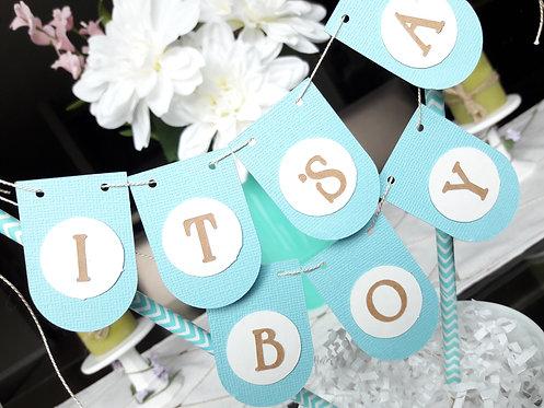 """DIY Mini """"Its A Boy"""" garland"""