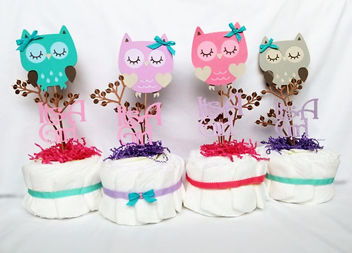 Adorable Owl Diaper Cakes