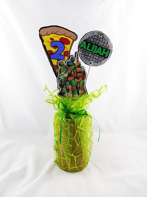 Personalized Ninja Turtles Centerpiece