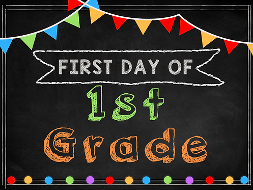 First day of School Digital Sign