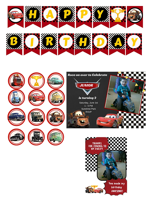 Disney Cars Theme Printable Package