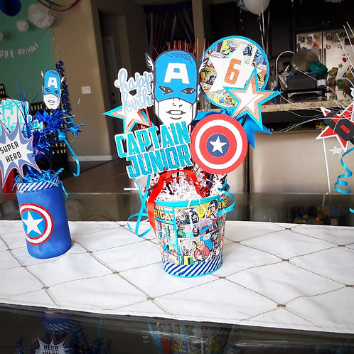 Captain America Inspired Centerpiece