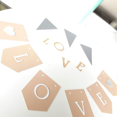 "DIY Mini ""LOVE"" garland"
