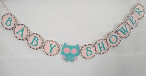 Adorable Owl Cardstock banner
