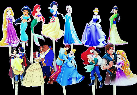 Disney Princess Inspired Cupcake Toppers (24 count)