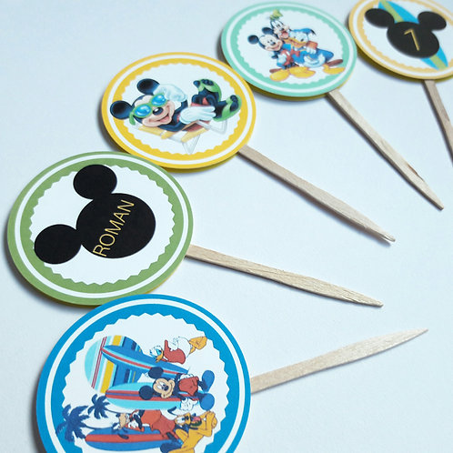 Mickey Mouse Inspired Cupcake Toppers