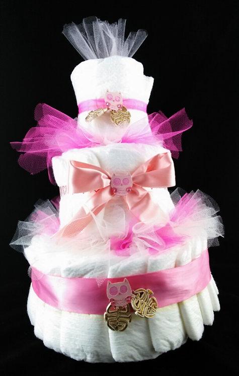 Adorable Three tier premium quality diaper cake