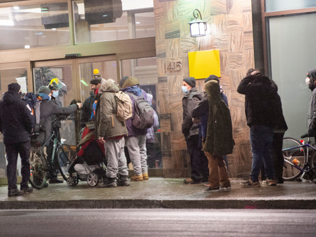 Montreal Homelessness during the Curfew