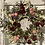 Thumbnail: Pink and red roses dried wreath