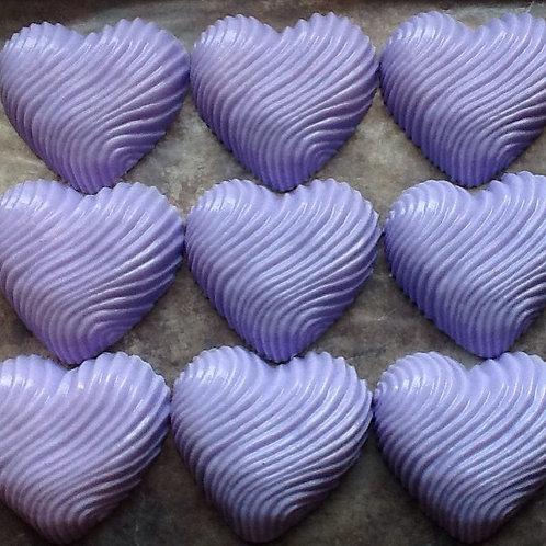 Lavender Swirl Heart Soap