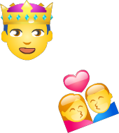 Emojis are available when signing
