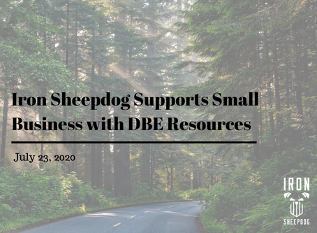 Iron Sheepdog Supports Small Business with DBE Resources