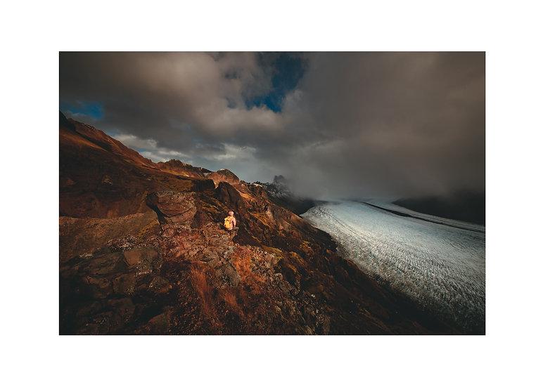 Jo and the glacier
