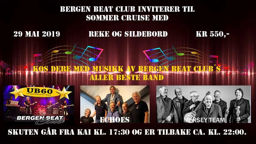Bli med på ettermiddags/kveldscruise med Bergens to stoltheter - Statsraaden og Bergen Beat Club!! Og etter båtturen fortsetter vi!