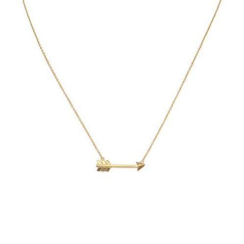 14 Karat Gold Plated Arrow Necklace