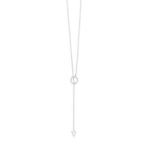 "24"" Multishape Lariat Necklace"