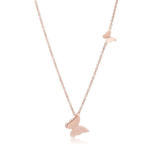Beatrice Rose Gold  Butterfly Necklace